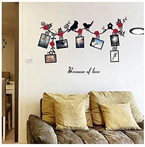 Muurstickers Jhping muur Stickers Home Decoratie Familie fotolijst Boom Muur Aanbieding Kunst Stickers Vogel PVC Stickers Home Decoratie Behang