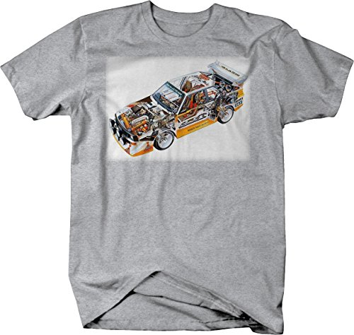Bold Imprints German Racing Dirt Track Racing Team Breakout Graphic T Shirt for Men Large Heather Grey