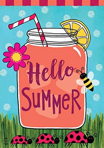 "Briarwood Lane Welcome Summer Lemonade Garden Flag Mason Jar 12.5"" x 18"""