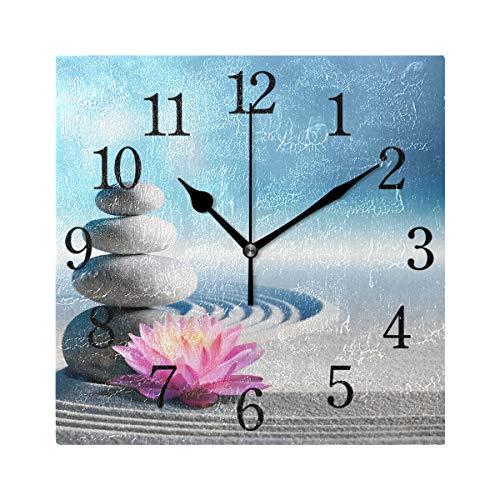 orologio da parete zen WowPrint Orologio da parete quadrato con pietra zen