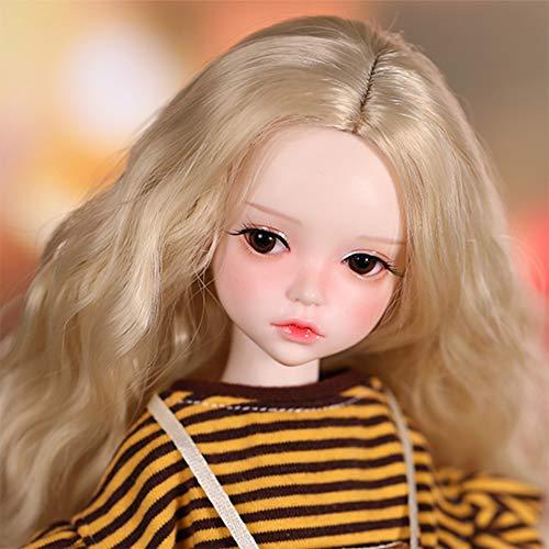 BJD Doll 1/6 Ball Joints SD Muñecas con Elegante Vestido Zapatos Pelucas Libre Maquillaje Niño DIY Juguetes 34.5CM/13.6Inch