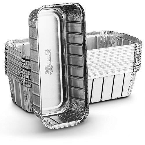 [10 Pack - 3lb Loaf Size ] Propack Disposable Aluminum Foil Meal Prep Cookware Loaf Pans 10.5