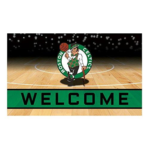 FANMATS 21941 Team Color Crumb Rubber Boston Celtics Door Mat, 1 Pack