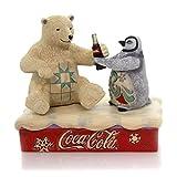 Enesco Coca-Cola by Jim Shore 4059474 - Figura de oso polar de coca con pingüino