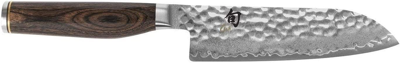 Shun TDM0727 Premier Santoku Knife, 5-1/2-Inch