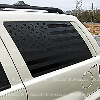 Skull Daddy Graphics WJ Window Flags to fit Jeep Grand Cherokee 1999-2004 (BOTH Sides)