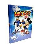 Scuola DIARIO Topolino Mickey Mouse 28 Calcio 2020/2021 20x15cm Blu+ Omaggio portachiave Fischietto + Penna Glitterata