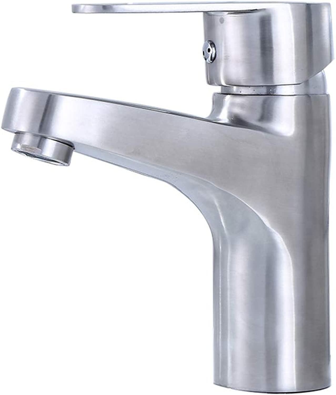 WAWRR Bathroom Sink Faucet,basin hot and cold water faucet, 304 stainless steelsingle hole bathroom basin Deck Mounted Single Handle