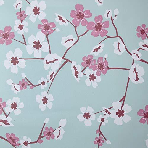Venilia Klebefolie Cherry Flowers Motiv, Dekofolie, Möbelfolie Kirschblüten, Tapeten, selbstklebende Folie, PVC, ohne Phthalate, Blumen, 45cm x 2m, 95µm (Stärke:0,095 mm), 54923, 45 cm x 2 m