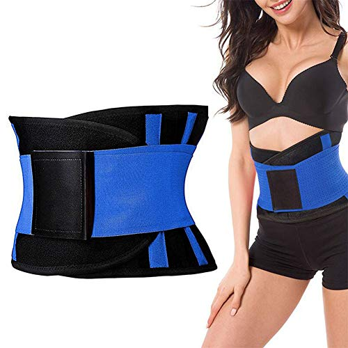 Smalle riem voor dames, met zweetwrap en lage rug- en lendensteun, voor thuis, in de sportschool, bodybuliding