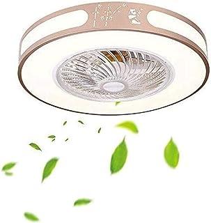 Zhna Ventilador de Techo con iluminación, Sala de la lámpara de Techo de la lámpara del Ventilador Habitación Salón de la lámpara de la lámpara del Ventilador Invisible