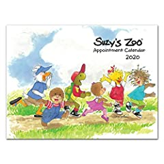 """Designed and Manufactured in the United States Printed on 30% Post-Consumer Recycled Paper Original Suzy's Zoo artwork new for 2020 Measures 9"""" x 12"""" Includes holidays, observances, and events"""