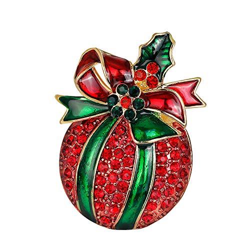 YAZILIND Women Girls Rhinestone Jewellery Gift Christmas Brooch Pins Xmas Breastpin Corsage