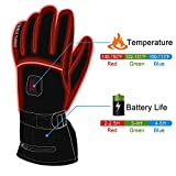 Best Heated Gloves - HEAT WARMER Men Women Winter Rechargeable Battery Heated Review