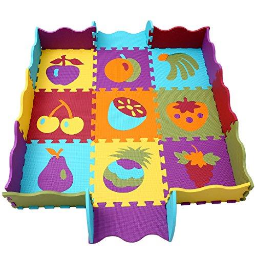 qqpp Puzzles de Suelo,Alfombra Puzzle de 25 Piezas | Fruta (30*30*1.0C
