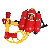 GracesDawn Fireman Toys Backpack Watergun Blaster Extinguisher with Nozzle and Tank Set Children Outdoor Water Toy