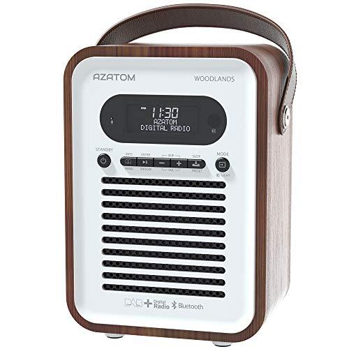 AZATOM Woodlands DAB/DAB+ Digital FM Radio Bluetooth Portable Radio/Alarm...