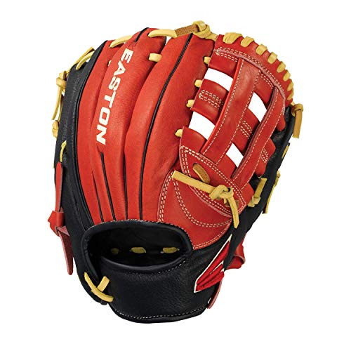 EASTON FUTURE ELITE Youth Baseball Glove 11', LHT, Red/Black/Cream, I Web, FE1100