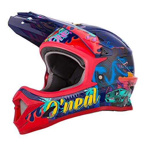 O'NEAL   Mountainbike-Helm   Kinder   MTB Downhill   ABS Schale, Lüftungsöffnungen für optimale Belüftung & Kühlung, Sicherheitsnorm EN1078   Sonus Youth Helmet Rex   Multi   Größe M