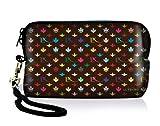 Luxburg® Design Universal Kameratasche Hülle Sleeve Hülle für kompakte Digitalkamera, Motiv: LX Muster Schoko