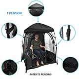 EasyGoProducts CoverU Sports Shelter – 1 Person Weather Tent Pod (Black) – New Larger Bag -...