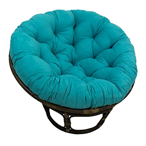 Blazing Needles Solid Microsuede Papasan Chair Cushion, 44' x 6' x...