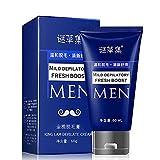 Crema Depilatoria Íntima Premium - Crema depilatoria permanente para el cuerpo del hombre Crema depilatoria para la pérdida de cabello en las piernas de la mano (A)