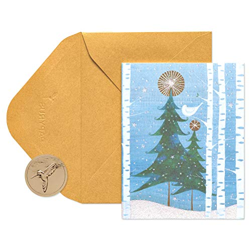 Papyrus Christmas Cards Boxed, Holiday Snowbird and Tree (20-Count), 5214138