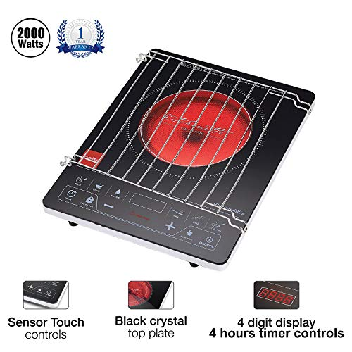 Cello Blazing 400 A Induction Cooktop (Black, Red, Touch Panel)