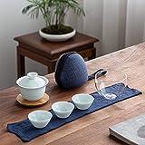 Juego De Té Celadon Ceramic Gaiwan Tea Cup para Puer Chinese Kung Fu Travel Tea Set Drinkware Juego De Té