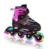 Best Girls Inline Skates - Hiboy Adjustable Inline Skates with All Light up Review