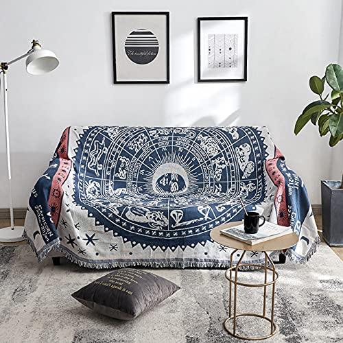 Funda de Sofá Reversible Doble Cara, Manta Multiusos para Sofa Silla Cama Sala de Estar Hogar (130*180cm)