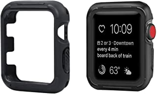 top4cus Environmental Soft Flexible TPU Anti-Scratch Lightweight Protective 42mm Iwatch Case Compatible Apple Watch Series 5 Series 4 Series 3 Series 2 Series 1 Sport Style - Black