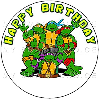 7.5 Inch Edible Cake Toppers – TEENAGE MUTANT TURTLES PARTY Themed Birthday Party Collection of Edible Cake Decorations