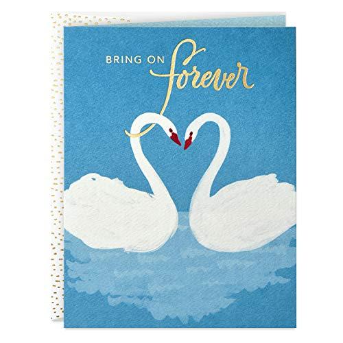 Hallmark Good Mail Wedding Card, Bridal Shower Card, Engagement Card (Swans)