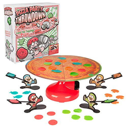 Pizza Party Throwdown Game for Kids & Family - Fast Paced Pizza Topping Throw Game - Fun for Game Night and Parties - Ages 4+