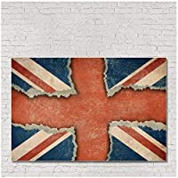 kldfig キャンバス英国旗絵画書道北欧のポスターとプリントフェスティバルパレードの機会の装飾のための壁の芸術の写真-50x70cmフレームなし