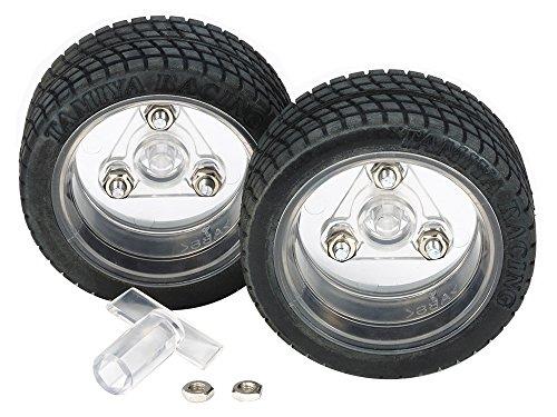 タミヤ 特別企画商品 スポーツタイヤセット 56mm径 クリヤーホイール仕様 69916