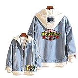 Boku No Hero Academia My Hero Academia Denim Jacket Hoodie Purse Set Cosplay Unisex Anime(9,M)