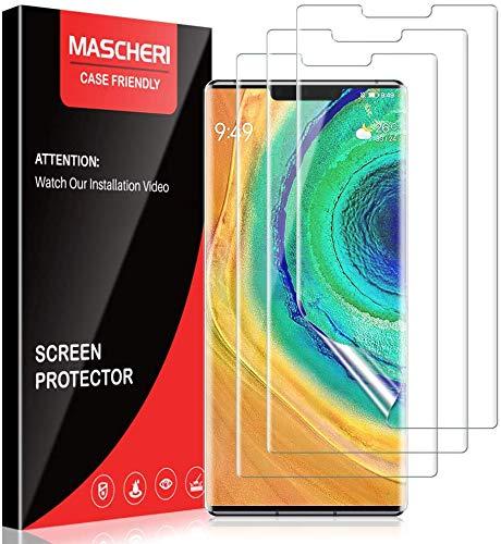 MASCHERI Pellicola per Huawei Mate 30 PRO Protettiva, [3 Pezzi] [TPU-Morbido Pellicola] [ Non Vetro Temperato ] Schermo Protettivo per Huawei Mate 30 PRO - Trasparente