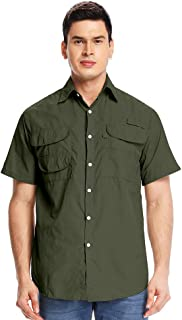 Jessie Kidden Men's Hawaiian Shirt, Cotton Button Down Short Sleeve Casual Flower Print Aloha Shirt