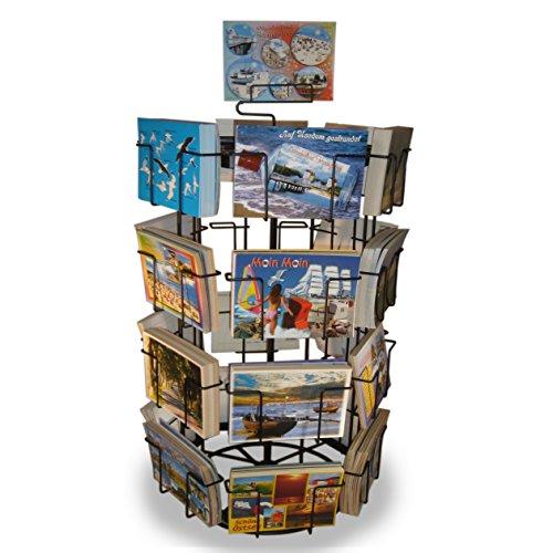 Theken-Kartenständer Postkartenständer für Postkarten 24 Motive drehbar