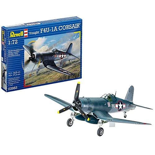 Revell- Vought F4U-1D Corsair, Kit de Modelo, Escala 1:72 (3983) (03983), 14,8 cm (