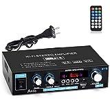 Facmogu AK35 90W+90W Mini HiFi Digital Amplifier, 2 Channel Bluetooth 5.0 Sound Amplifier Speaker AMP, Surround Sound FM USB Remote Control Low Distortion Home Car Amplifiers