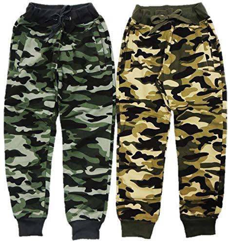 VanessasShop 2-pack jongens camouflage joggingbroek in de maten 122-170