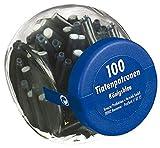 500 Füllerpatronen / Tintenpatronen / im Glas / königsblau -