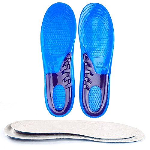 Gel-Einlegesohlen, Sportgel-Einlegesohlen, Schuheinlagen für das Laufen, Wandern, Wandern Beste Einlegesohlen für Männer und Frauen, Absorb Shock-M