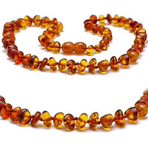 Baltic Secret New Baltic Amber Necklace, Polished Cognac Amber Beads, Size 27.5 cm 50% Richer & Higher in Value, 100% Natural Authentic Certified