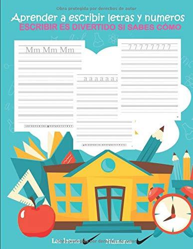 aprender a escribir letras y numeros escribir es divertido si sabes cómo: Cuaderno de escribir para niños y adolescentes   actividades : aprender a...