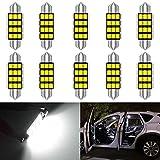KATUR 1.53 '' 39mm 6411 6413 6423 6461 Conjunto de Chips Super Bright 5630 Aluminio CanBus Sin Errores Festón Mapa de la Puerta Interior del automóvil Luces de Techo Xenón Blanco 12V Paquete de 10